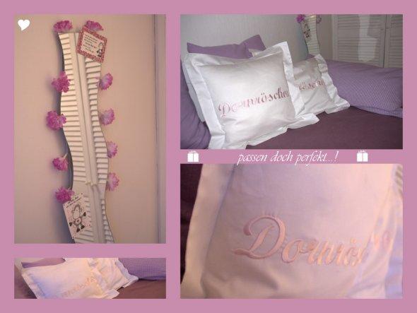 Die schönen Kissen passen perfekt zu meinem Töchterlein ins Zimmer!