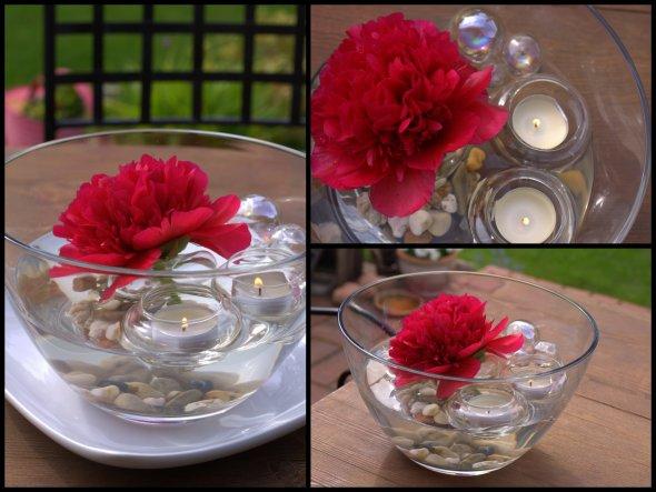 """beim Gartenfestival """"Frühling im Park"""" fand ich diese hübschen Glasteelichthalter, Kugeln, die an Seifenblasen erinnern und auch die Blüte s"""