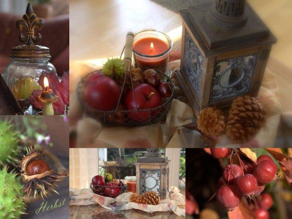 September 2013: Tischdeko im Wohnzimmer dieses Jahr, die Kerze im Einmachglas duftet nach Orange und Zimt :-)!! Herrlich♥♥