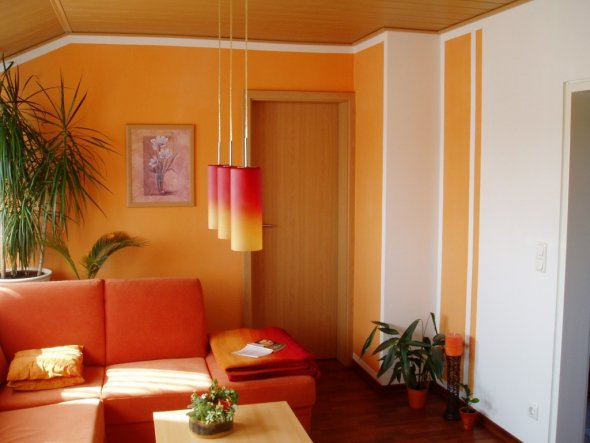 design : wandgestaltung wohnzimmer orange ~ inspirierende bilder