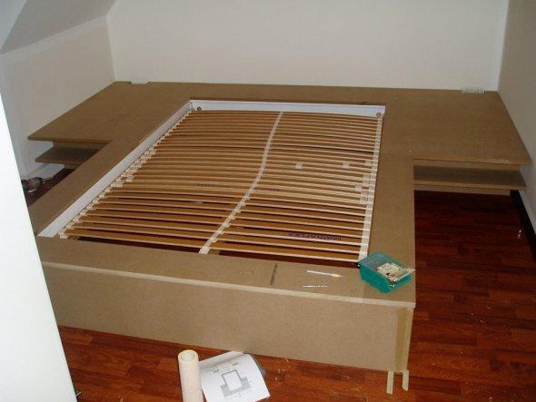 bettkasten selber bauen ihr traumhaus ideen. Black Bedroom Furniture Sets. Home Design Ideas