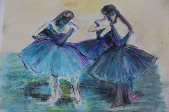 Aquarellstifte im Stil Edgar Degas
