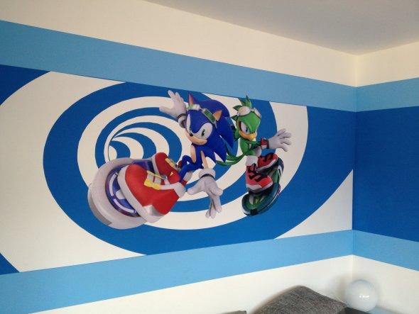 Neue Wandgestaltung mit Sonic