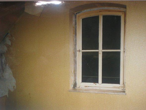 Fensterwand im ehemaligen Schlafzimmer