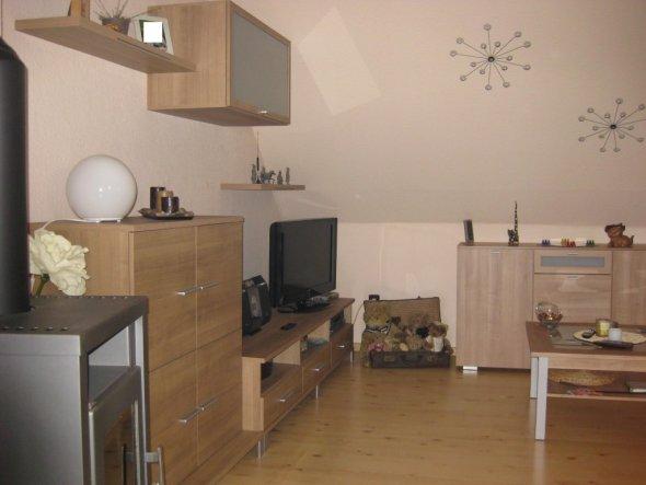 Aus dem kleinen Schlafzimmer wird ein Wohn/Kochraum 2009 mit unserem Kamin
