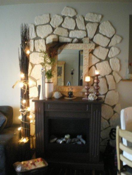Wohnzimmer 'Wohnzimmer mit Gelkamin'