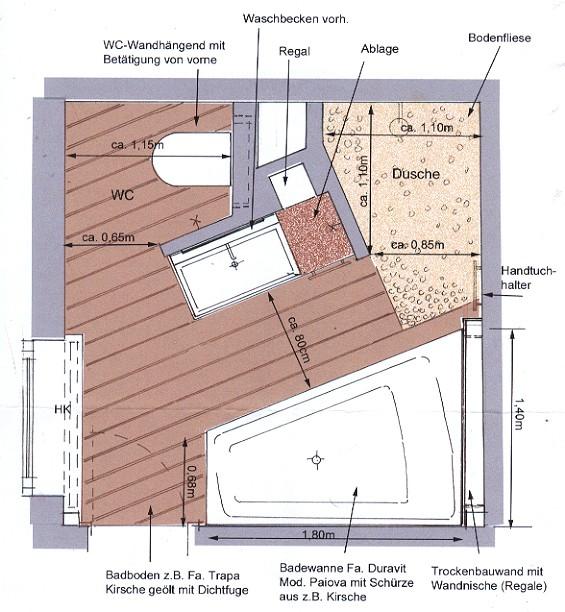 Badezimmer 3x3 meter design for Badezimmer 11qm