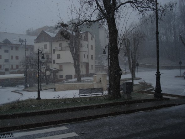 wow.... es schneite