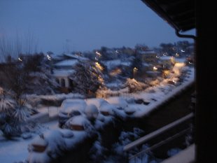 Schnee auch in Rom