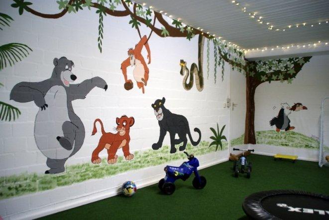 Kinderzimmer 'Dschungel-Tobekeller'