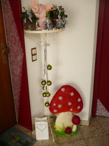 Weihnachtsdeko 'Weihnachten Ade Willkommen2011'