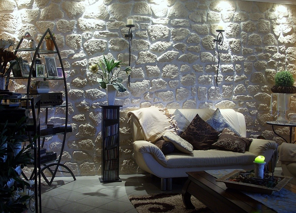 steinwand wohnzimmer bilder : steinwand wohnzimmer bauhaus – Dekor ...