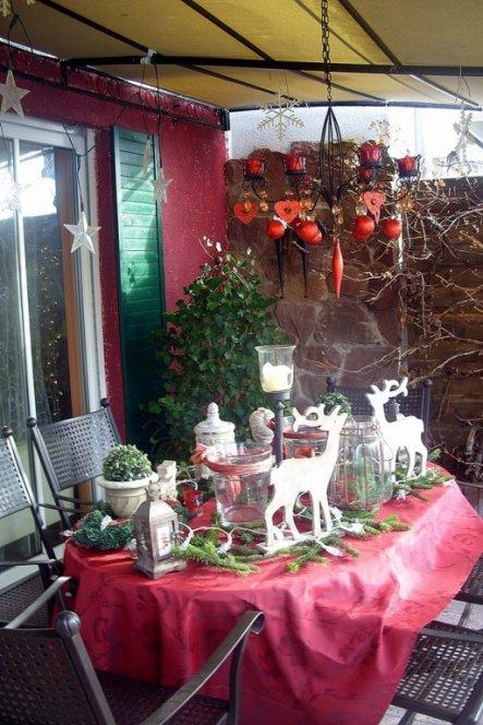 Weihnachtsdeko Gartentisch Depresszio