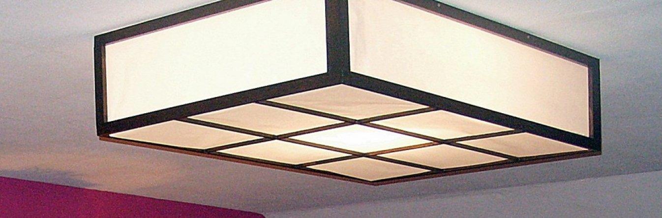 Unsere selbst gebaute Deckenlampe
