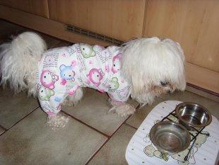 Aika im Schlafanzug