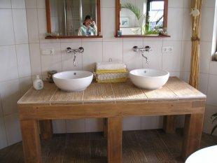 Unser großes Badezimmer...