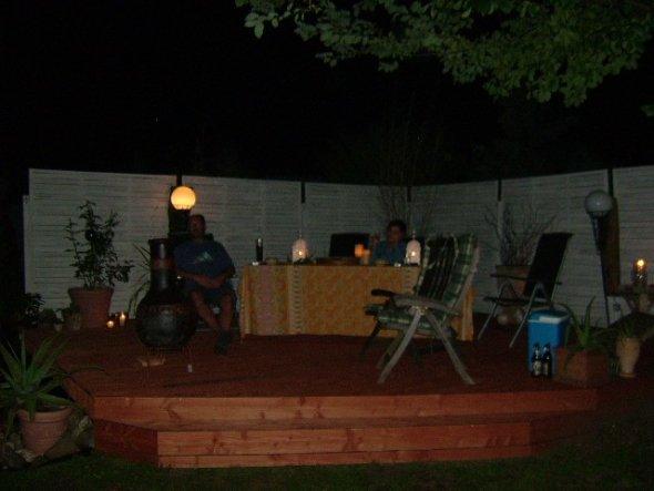 ein Abend auf der neuen Terrasse
