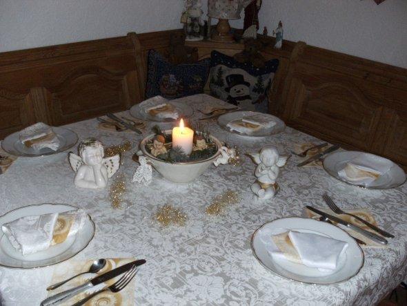 Tischdeko 1. Weihnachtsfeiertag