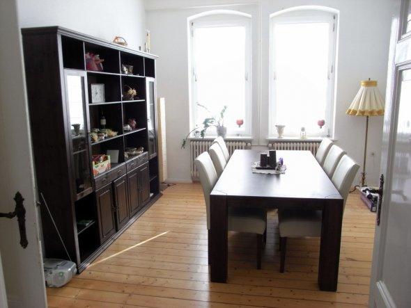 Unser Esszimmer, noch ohne Lampe und ohne Stuckleisten :)
