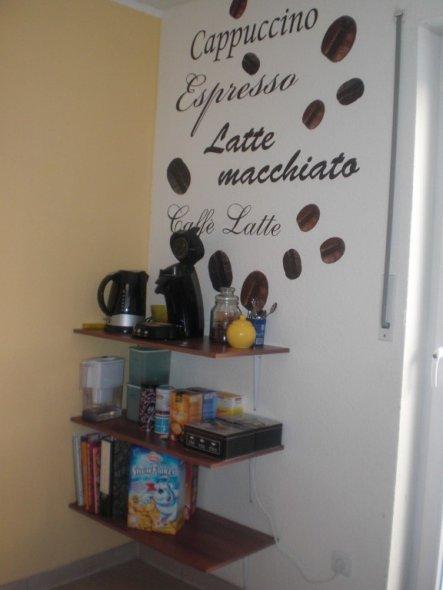 unsere neue kaffeeecke.
