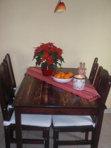weihnachtsstern, orangen udn kerze.... mmmmhh... dann ist ja bald weihnachten