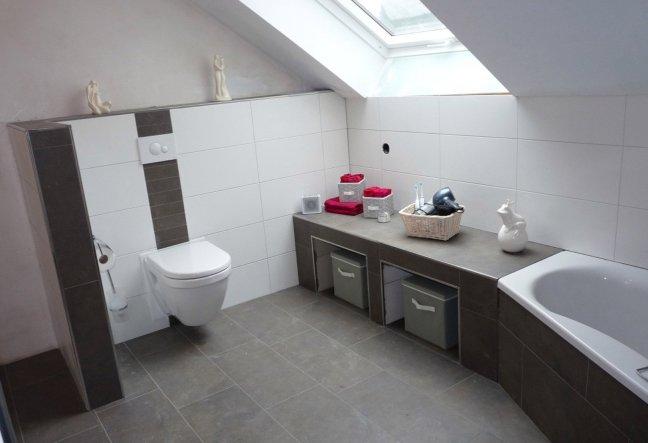 Bad 39 unser neues badezimmer 39 sweet home zimmerschau for Mein badezimmer