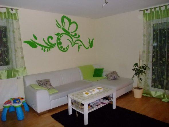 wohnzimmer 'wohnzimmer' - meine 2-raumwohnung - zimmerschau - Wohnzimmer Grun Weis