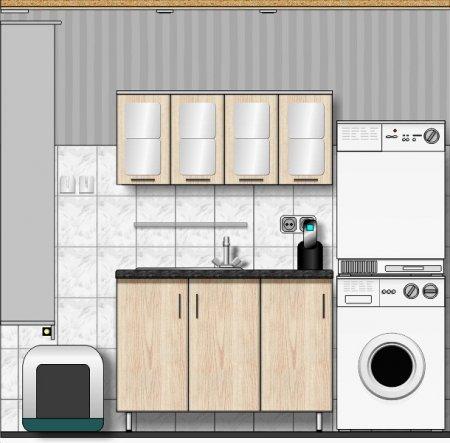 Entwurf Waschtisch und Spiegelschrank