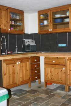 provisorische Küche