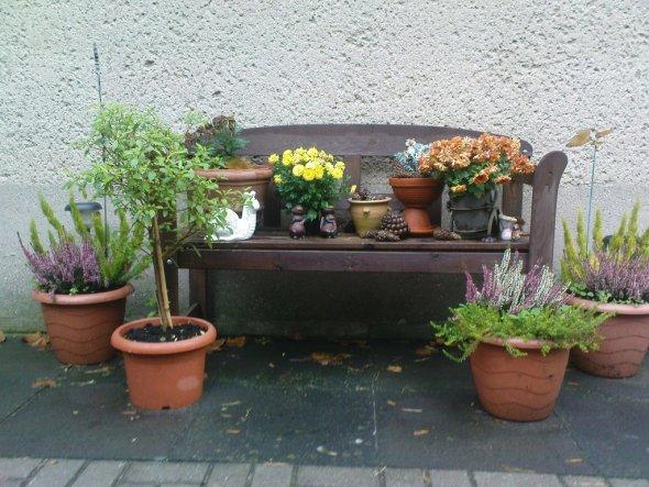 Terrasse balkon 39 unser sommer wohnbereich 39 unsere - Gartenbank dekorieren ...