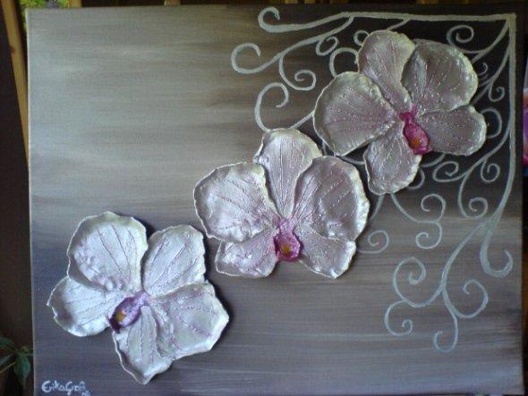 Modeliermasse und Acrylfarbe