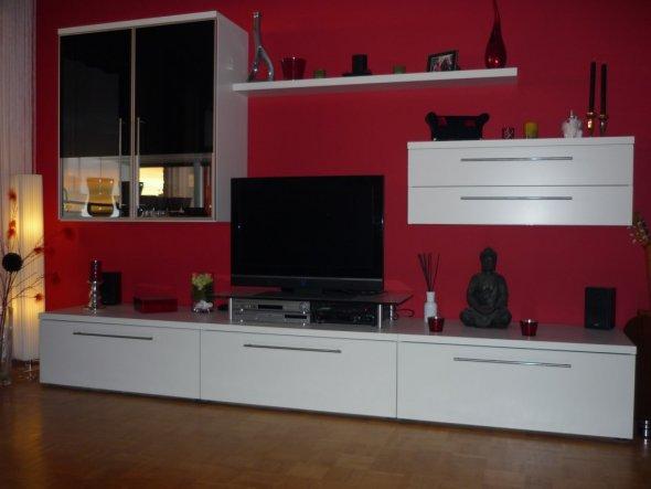 Wohnzimmer rot schwarz weis   Wohnzimmer 'Wohnzimmer' - Wohnzimmer - Zimmerschau