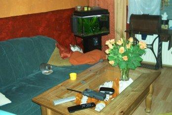altes Wohnzimmer -Kolonialstil