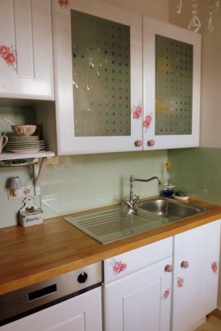 küche 'shabby-küche' - 550 jahre alter ritterturm - zimmerschau