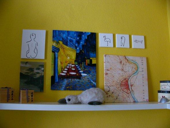 ich hatte mal wieder Lust, selbst zu malen - auch wenn die 3 kleinen Bilder nur schlechte Picasso-Kopien sind ;-)