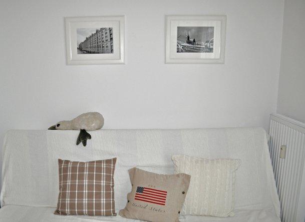"""die Bilder hingen in der """"Studentenbude"""" noch über dem Wohnzimmersofa..."""