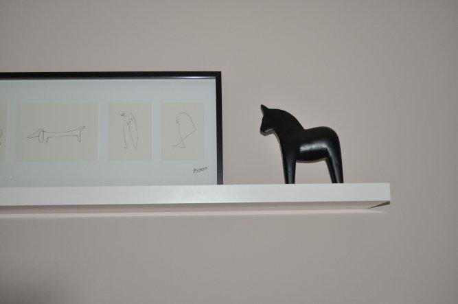 ich liebe diese Skizzen von Picasso - auch wenn es ein Ikea-Massendruck ist, musste ich das Bild daher unbedingt haben :-)