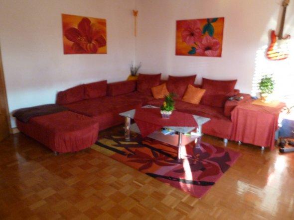 wohnzimmer 'wohnzimmer' - wohnung - zimmerschau - Wohnzimmer Sofa Rot