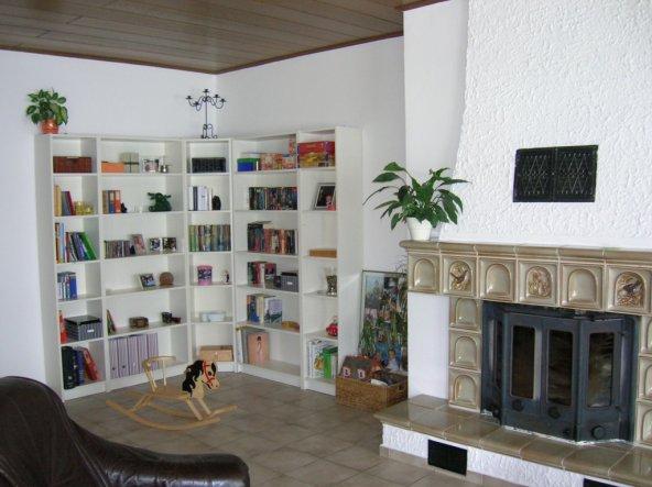 wohnzimmer wohnund esszimmer  mein wunschhaus  ~ Bücherregal Voll