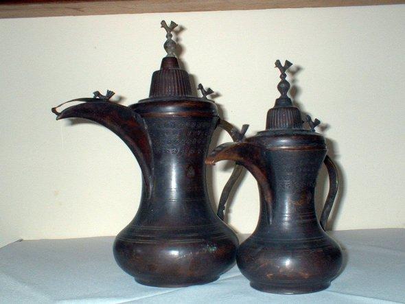 alte türkische Wasserkannen aus Kupfer