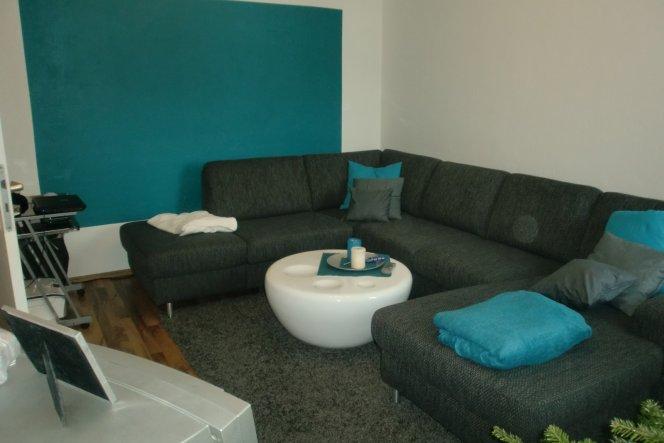 Deko wohnzimmer türkis  Wohnzimmer 'Wohnzimmer' - Mein Domizil - Zimmerschau
