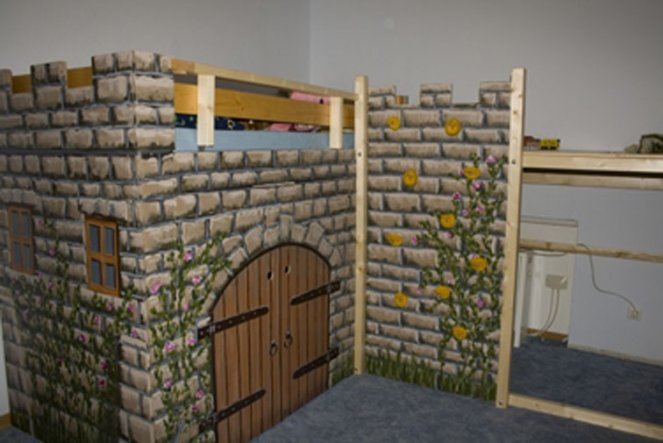 Kinderzimmer 39 julian s ritterzimmer 39 gine s domizil - Piratenzimmer wandgestaltung ...