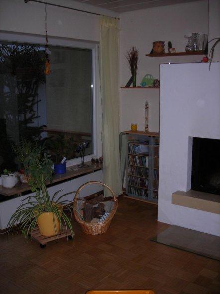 Weitere Vorhänge werden nicht angebracht, da wir die Helligkeit behalten wollen, die die große Fensterfront bietet. Die Vorhangstange wird immer wiede