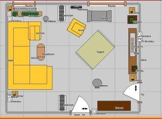 wohnzimmer 39 leben und lieben 39 vivir y amar zimmerschau. Black Bedroom Furniture Sets. Home Design Ideas
