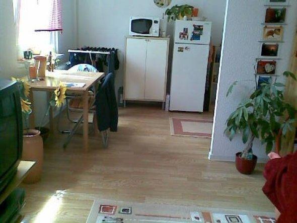 Blick Wohnbereich in Küchenecke