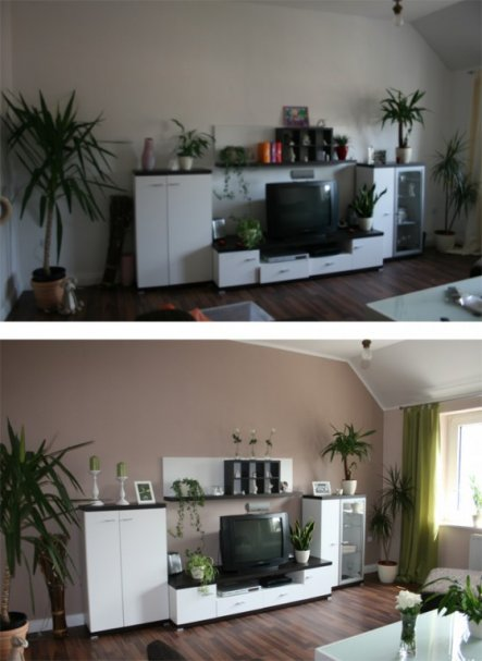 Wohnzimmer neu gestalten vorher nachher