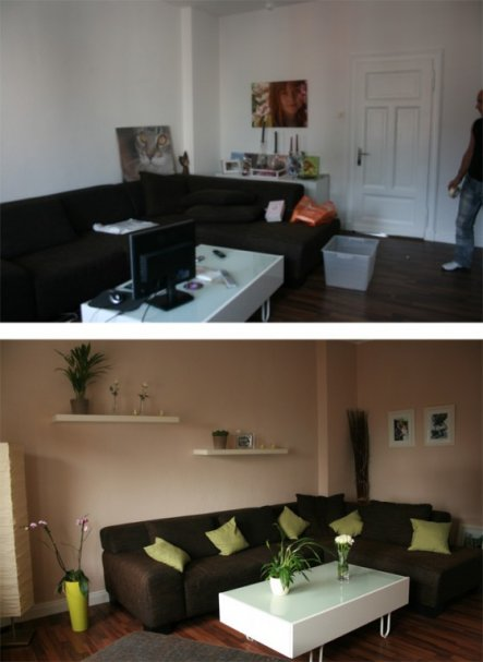 neu gestalten vorher nachherWohnzimmer 'Wohnzimmer VorherNachher