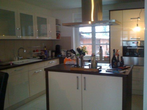 das ist die Küche vom Esszimmer/Wohnzimmer aus