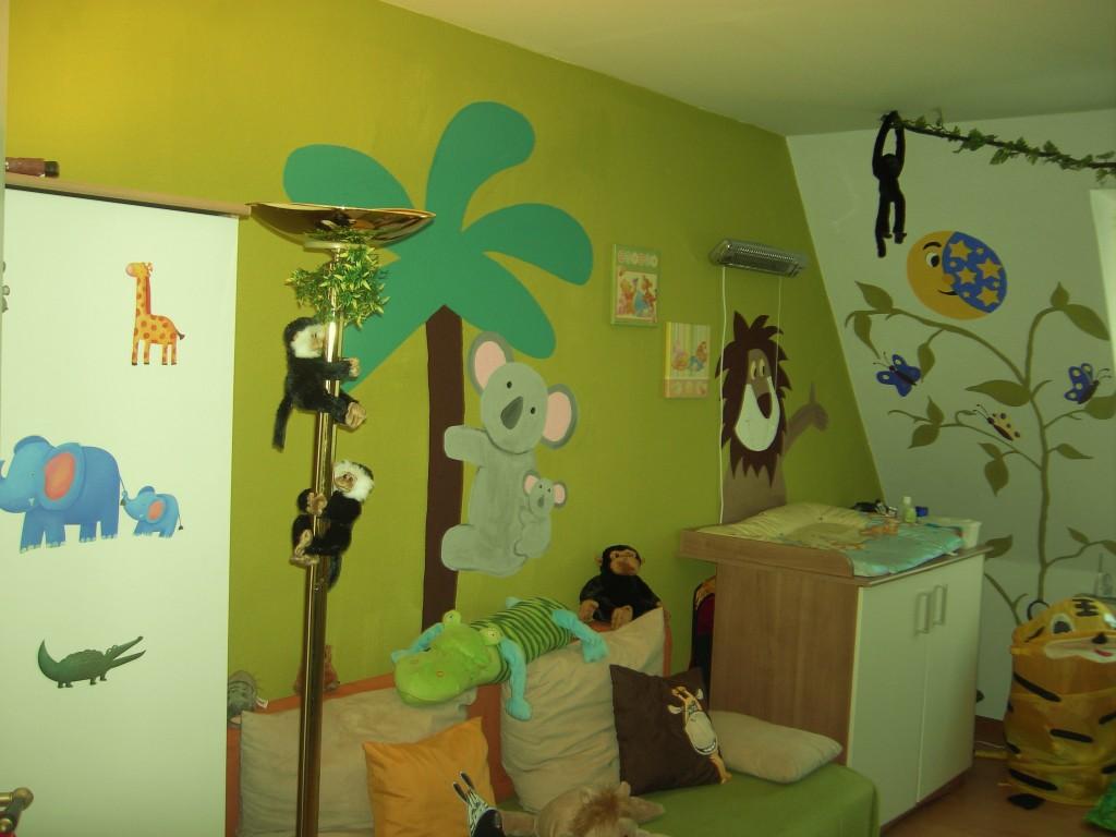 Kinderzimmer wandgestaltung dschungel  Kinderzimmer 'Dschungel- Kinderzimmer' - Dschungel- Kinderzimmer ...