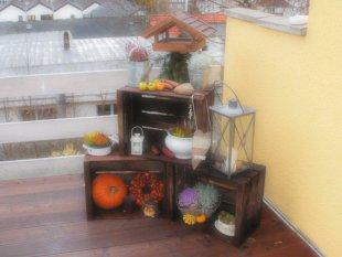 Herbstdeko draußen
